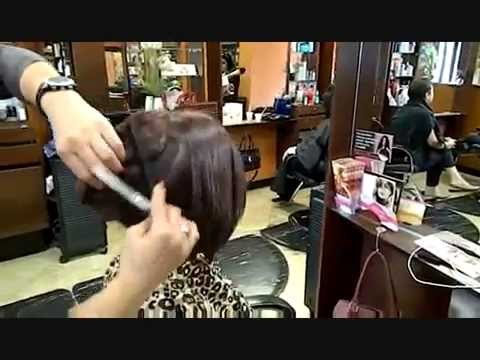 Graduated A-Line Bob haircut Irvine 92604 the best hair salon (949) 375-1210 www.Sherryluxury.com