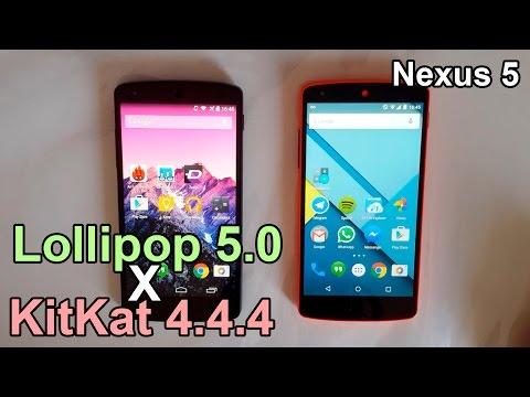 Android Lollipop 5.0 vs KitKat 4.4.4 - Performance Comparison (Nexus 5)
