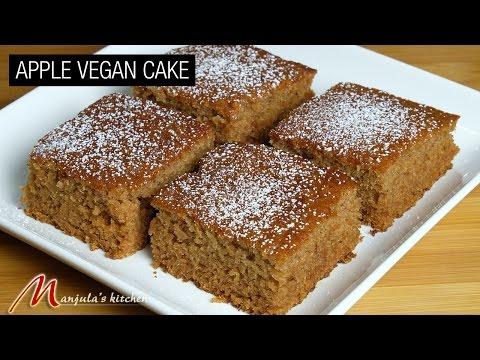 Apple Vegan Cake Recipe by Manjula