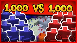 Minecraft TABS - 1,000 VS 1,000 Modded Clay Soldiers!