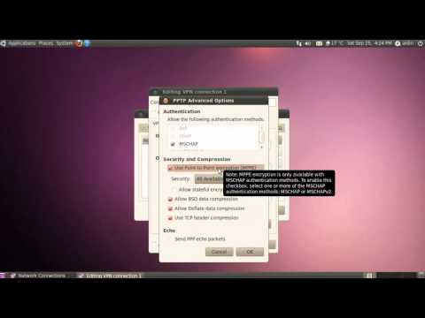 How to create VPN (PPPTP) connection on Ubuntu