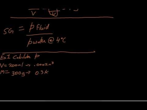 Fluid Mechanics - Lecture 2 (density, specific gravity & specific weight)