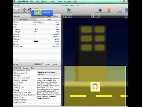camera control scrolling in GameSalad