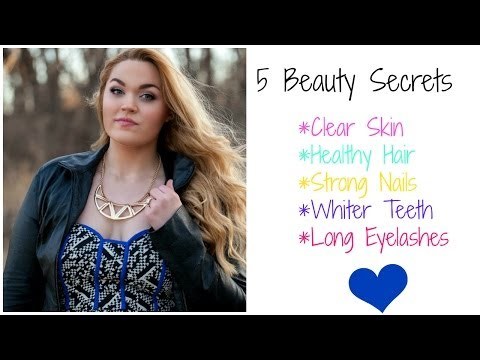 5 Beauty Secrets ♡ How To Get Clear Skin, Long Lashes, Healthy Hair & More! ♡