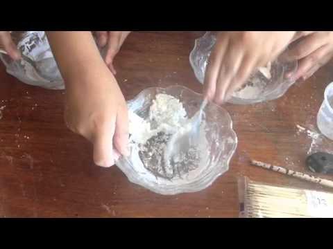 DIY cornstarch dough