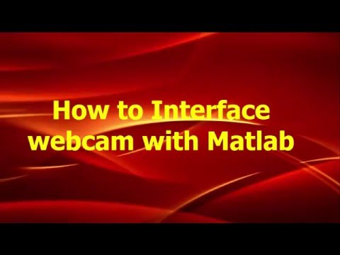 How to Read webcam video in Matlab