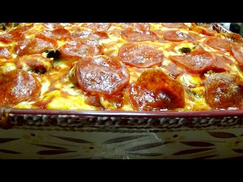 Recipe for Biscuit Dough Pizza Casserole Cooked in Your Oven