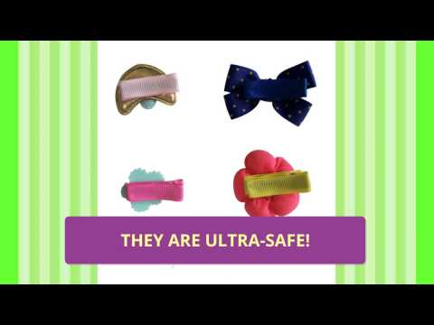 Ultra Safe Hair Clips for Baby Girls by Charis Kid