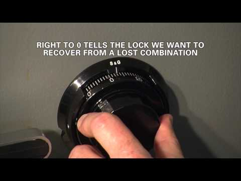 S&G 2740B Lock RECOVERY OF LOST COMBINATION