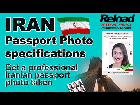 Iranian passport photos and Iran Visa photo snapped in Paddington, London at Reload Internet