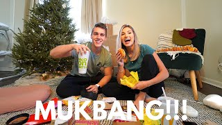 Answering your ASSUMPTIONS of us during our first MUKBANG!