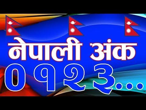 Nepali Numbers 1 To 10 नेपाली अंक एक देखी दशसम्म