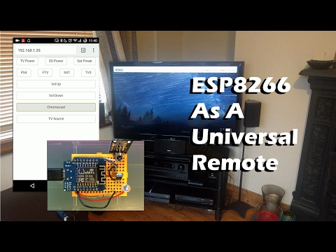 ESP8266 As A WiFi Controlled Universal Remote