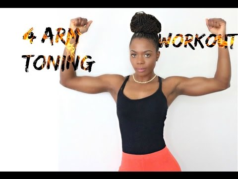 4 Easy Arm Toning Workout: No Equipment, No Pushup/Jungle Barbie