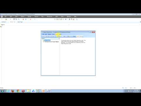 QTP Video Tutorial: How To Add Objects To Object Repository Using Add To Local