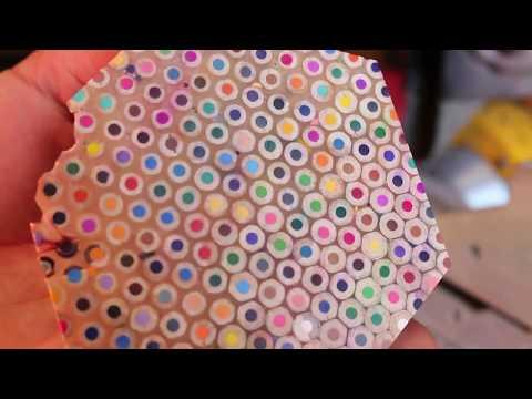 Color Pencil Coasters