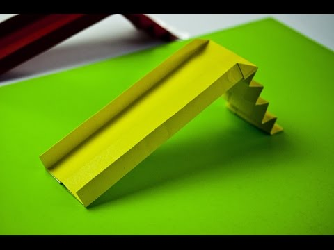 How to make a paper playground slide (origami)