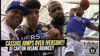 Cassius Stanley Dunks OVER Allen Iverson!! DJ Carton Has RIDICULOUS BOUNCE!!