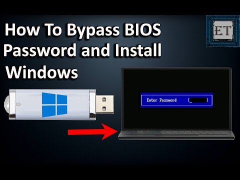 How To BYPASS BIOS/CMOS Password On Laptops And Install Windows (2018)
