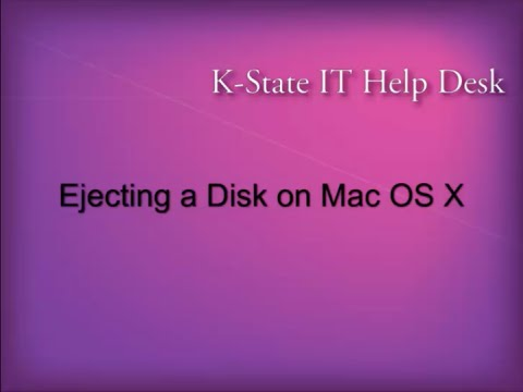 Ejecting a Disk on Mac OS X