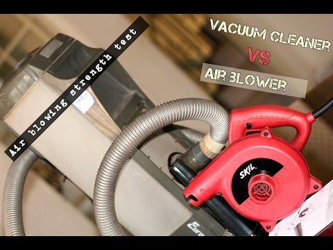 Vacuum Cleaner Vs Air Blower - Air blowing action with Eureka Forbes and Skil 8600