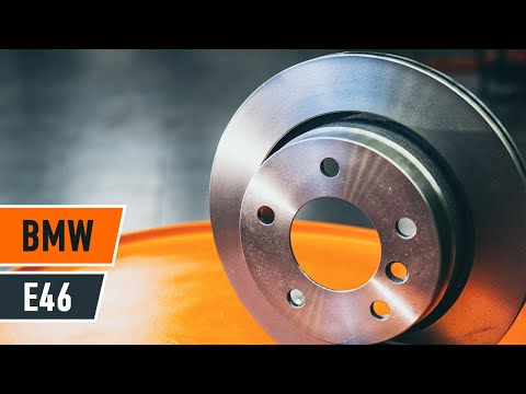 How to change a rear brake discs on BMW 3 E46 TUTORIAL | AUTODOC