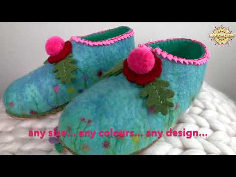 Learn to Make Felt Slippers Online Course (Trailer)