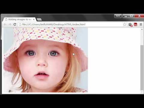 HTML Tutorials - 17 - Height and Width of the images