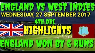ENGLAND VS WEST INDIES 5TH ODI HIGHLIGHTS 29-9-2017