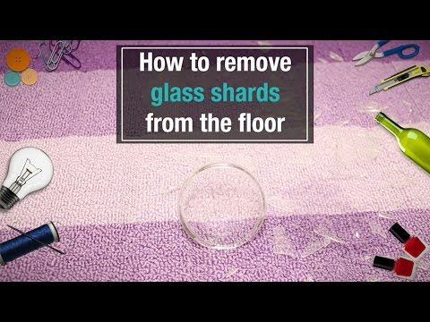 Daily DIY Home: How To Remove Glass Shards From The Floor