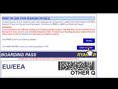 Ryanair checkin reprint