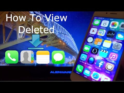 How To View Deleted Contacts, SMS, iMessages & Calls iOS 11 - 11.4 / 10 / 9 FREE iPhone iPad iPod