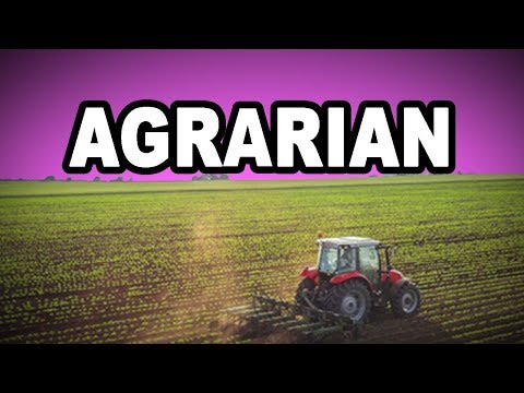 Learn English Words: AGRARIAN - Meaning, Vocabulary with Pictures and Examples