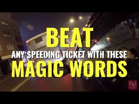 Beat Any Speeding Ticket With These Magic Words