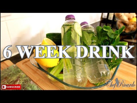 6 Week Detox Water For Drink For Summer HOW TO LOSE WEIGHT | Chef Ricardo Cooking
