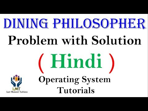 Dining philosopher Problem Explained  in Hindi | Operating system tutorials