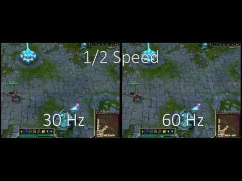 Monitor Refresh Rate Compared with Examples 720p