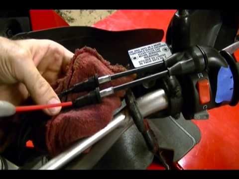 How to Adjust Throttle Cable Free Play on a 2009 Kawasaki KLR 650 Motorcycle