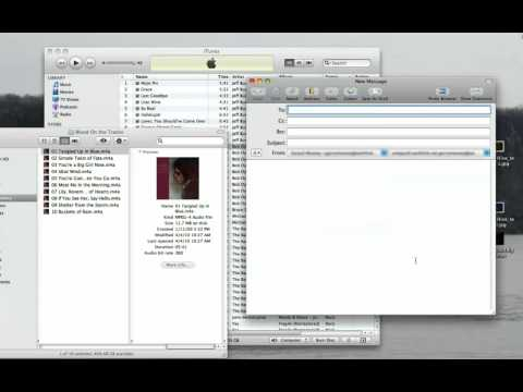 Email song from iTunes on a Mac