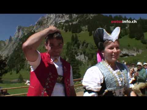 The dance of love -  A traditional performance in Appenzell, Switzerland