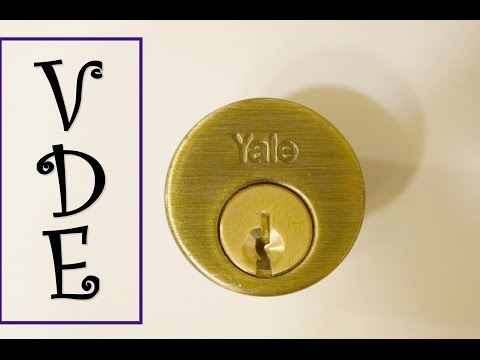 [234] Yale-schlage dead bolt lock picked and gutted