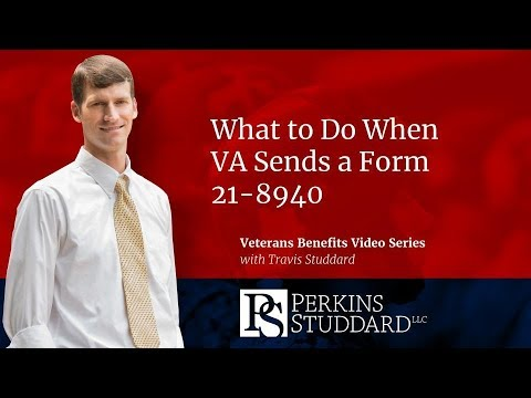 What to Do When VA Sends a Form 21 8940