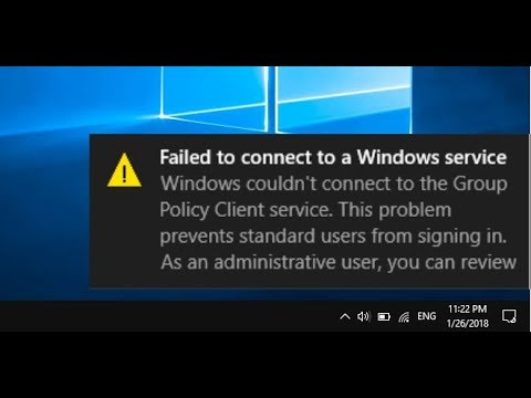 "How to Fix All ""Failed to Connect to a Windows Service"" In Windows 10/8/7"