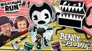 BENDY & THE INK MACHINE NIGHTMARE RUN!  Monster Treasure Chest: Episode 1 (FGTEEV Walks the Plank)