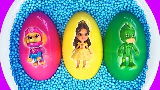 Learn Characters with Surprise Eggs, Magic and Colors for Kids - Pj Masks, Paw Patrol,  Disney Toys