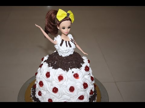 How To Make Eggless Black Forest Doll Cake at Home | 10,000 Subscribers Special