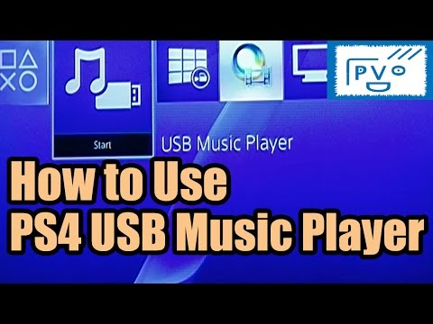 PS4: How to Use USB Music Player