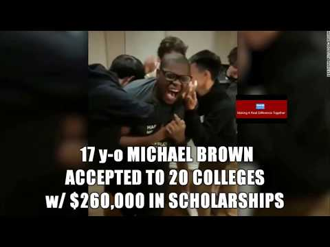 MICHAEL BROWN Accepted To 20 Colleges and Over Quarter Million Dollars In Scholarship- 5 Ivy Leaugue