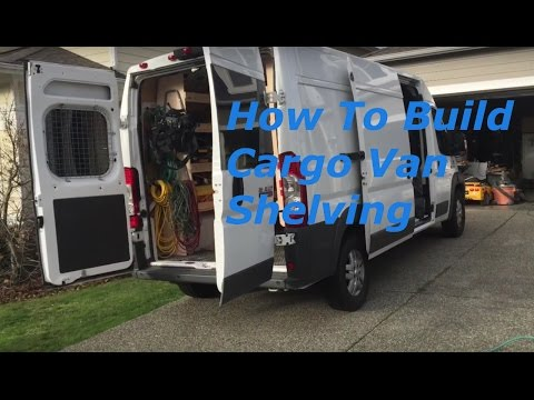 Build Wood Shelves Dodge Ram Promaster 2500 Cargo Van