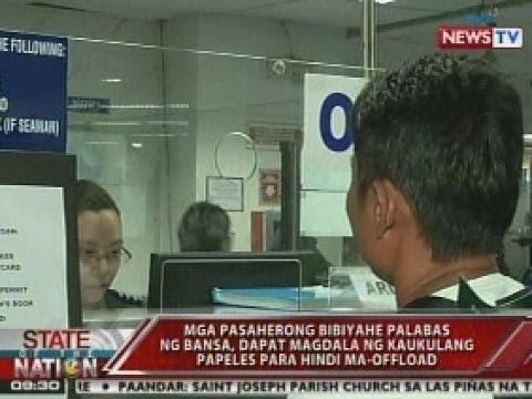 SONA: Offloaded passengers sa NAIA terminal 1, umaabot ng 40 kada araw